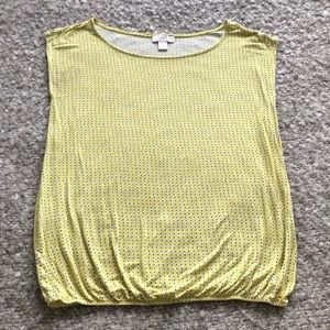 Yellow dotted short sleeve top